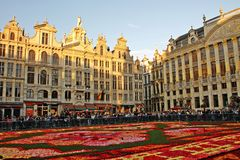 Brussels Belgium Flower Carpet Festival Grand Place Stock Photo