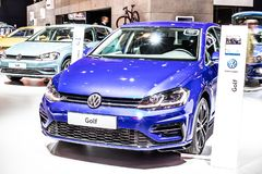 Volkswagen VW Golf MK7 MQB Seventh generation at Brussels Motor Show, produced by German automaker Volkswagen Group