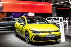 Volkswagen VW New Golf 8 VIII at Brussels Motor Show, Eighth generation, MK8, MQB platform, produced by Volkswagen Group