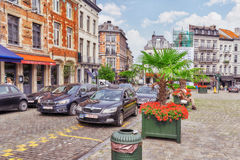 BRUSSELS, BELGIUM - JULY 07, 2016 : City views cozy European cit Royalty Free Stock Photo