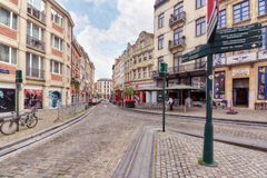 BRUSSELS, BELGIUM - JULY 07, 2016 : City views cozy European cit Royalty Free Stock Photos