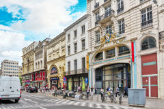 BRUSSELS, BELGIUM - JULY 07, 2016 : City views cozy European cit Stock Photo