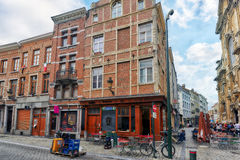 BRUSSELS, BELGIUM - JULY 07, 2016 : City views cozy European cit Stock Photos