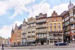 BRUSSELS, BELGIUM - JULY 07, 2016 : City views cozy European cit Stock Images