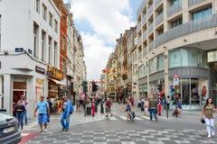 BRUSSELS, BELGIUM - JULY 07, 2016 : City views cozy European cit Stock Photography