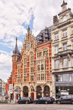 BRUSSELS, BELGIUM - JULY 07, 2016 : City views cozy European cit. Ies - Brussels, Belgium and the European Union`s capital. Streets, cafes, restaurants and the royalty free stock image