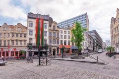 BRUSSELS, BELGIUM - JULY 07, 2016 : City views cozy European cit Royalty Free Stock Image