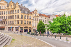 BRUSSELS, BELGIUM - JULY 07, 2016 : City views cozy European cit Royalty Free Stock Images