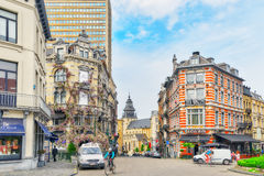 BRUSSELS, BELGIUM - JULY 07, 2016 : Entangled flowers House and Royalty Free Stock Photos