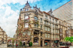 BRUSSELS, BELGIUM - JULY 07, 2016 : Entangled flowers House in t Stock Photo