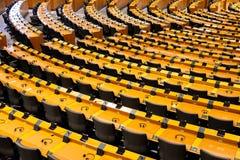 EU European Parliament Room. BRUSSELS, BELGIUM - JULY 30, 2014: The EU European Parliament Room in Brussels stock photography
