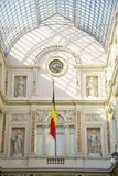 Interior of the Galeries Royales Saint-Hubert in the center of Brussels Royalty Free Stock Image