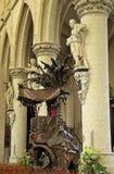 Interior of Grand Sablon , Eglise de la Chapelle Royalty Free Stock Photography
