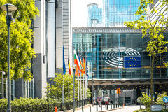 BRUSSELS, BELGIUM - June 16, 2016 : Exterior of the building of Royalty Free Stock Photos