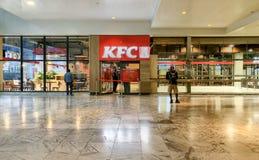 Brussels, Belgium June 5, 2019 First Restaurant of KFC, Kentucky Fried Chicken, in Belgium. royalty free stock photos