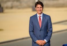 Justin Trudeau, Prime Minister of Canada. 11.07.2018. BRUSSELS, BELGIUM. Justin Trudeau, Prime Minister of Canada Family photo before Working dinner, during NATO stock images