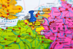 Brussels Belgium map Royalty Free Stock Photography