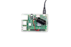 Brussels, Belgium - March 18, 2017 : illustrative editorial image showing Raspberry Pi 3 single-board computer. Royalty Free Stock Photos