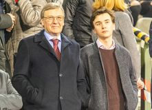Russian Ambassador to Belgium Alexander Tokovinin, with son royalty free stock image