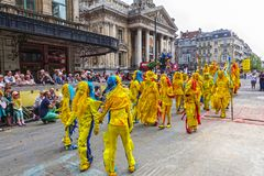 Participant of the Zinneke Parade 2018, Brussels Royalty Free Stock Images