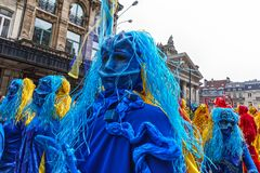 Participants of the Zinneke Parade 2018, Brussels Stock Photo