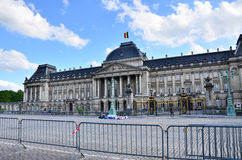 Brussels, Belgium - May 12, 2015: People visit The Royal Palace of Brussels. Royalty Free Stock Images