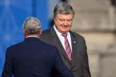 Petro Poroshenko, president of Ukraine stock photo
