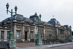 Brussels, Belgium: royal palace. Brussels Ryal Palace, the official building of king and queen of the Belgian people. The facade is from the beggining of 19th Stock Image