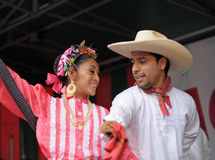 Xochicalli Mexican folkloric group Stock Image
