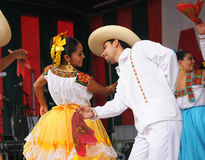 Dancers of Xochicalli Mexican folkloric ballet Stock Image