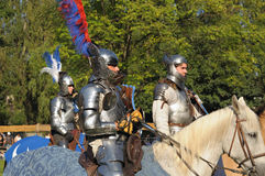 Lap of honor after medieval tournament Stock Photography