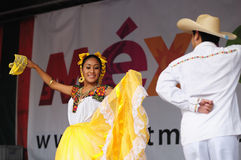 Xochicalli Mexican folkloric ballet Stock Photos