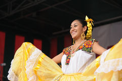 Xochicalli Mexican folkloric group Royalty Free Stock Photography
