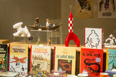 Brussels, Belgium: Tintin's life showcase Royalty Free Stock Images