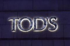 Brussels, brussels/belgium - 13 12 18: tod´s sign in brussels belgium. Brussels, brussels/belgium - 13 12 18: an tod´s sign in brussels belgium stock photos