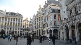 Brussels in Belgium. During the winter time, Christmas and New Year time stock footage