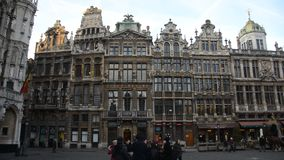 Brussels in Belgium. During the winter time, Christmas and New Year time stock video footage