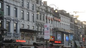 Brussels in Belgium. During the winter time, Christmas and New Year time stock video