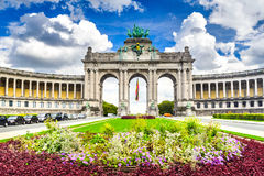Brussels, Bruxelles, Belgium - Cinquantenaire. Brussels, Belgium. Parc du Cinquantenaire with the Arch built for Beglian independence in Bruxelles Royalty Free Stock Image
