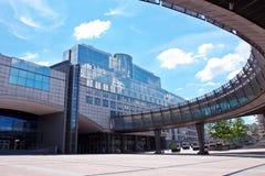 brussels budynku parlament europejski Fotografia Royalty Free