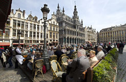 brussels cafe Arkivfoto