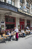 Brussels Cafe Royalty Free Stock Photo