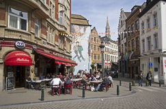 Brussels Cafe Stock Photos