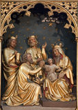 Brussels - Carving of Three Magi Stock Photography