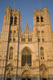 Brussels Cathedral. St Michel and Gudule Cathedral; Brussels; Belgium Stock Photo