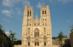 Brussels Cathedral. St. Michael and St. Gudula Cathedral in Brussels, Belgium Stock Photos