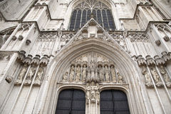 Brussels Cathedral Church, Belgium Stock Photography