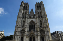 Brussels cathedral Royalty Free Stock Photo