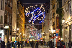 Brussels in Christmas Stock Photo