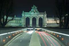 brussels cinquantenaire du jubel parcpark Royaltyfri Foto